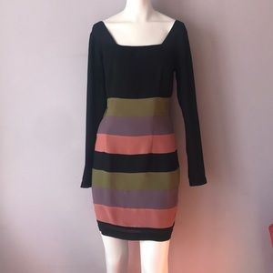 Vivienne Tam Bodycon Striped Dress